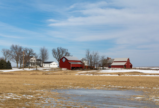 Rural farm on a Winter  afternoon
