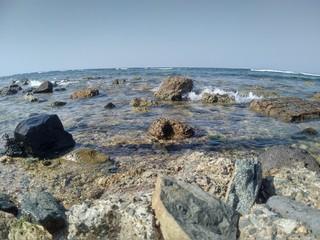 Rocks in the Sea, Jeddah Coastline, Saudi Arabia