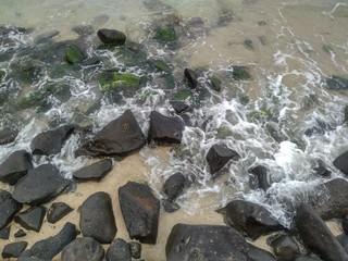Stones in the Sea Water, Jeddah, Saudi Arabia