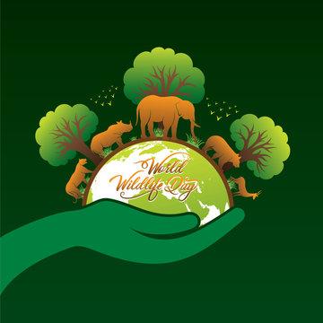 world wildlife day poster design
