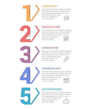 Five Steps - Infographic Template