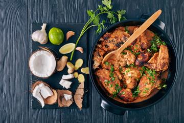 Kuku Paka, Kenyan Chicken stewed in Coconut Sauce