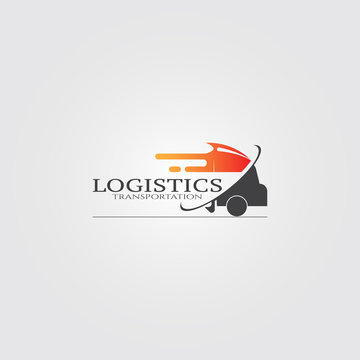Truck transportation icons, vector logo for shipping business corporate, delivery of goods, logistic, element, illustration.