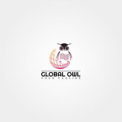 Owl logo template, modern vector logo for business corporate, creative symbol design , icon, element, illustration.