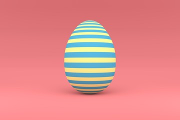 Colorful easter egg. 3d render illustration of Easter celebration.