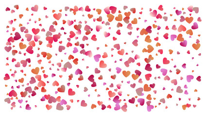 Colored heart confetti for womens holidays