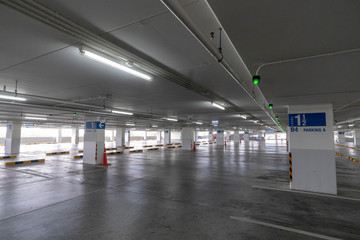 Parking space in department stores