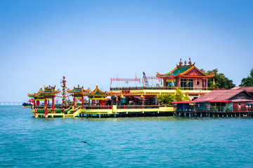 Temple in George Town Chew jetty, Penang, Malaysia