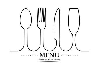 Logo for catering or gastroservice restaurant menu design