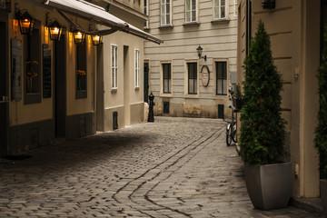 Small street in Wien, Austria