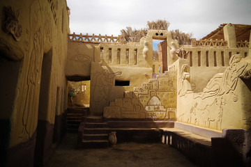 The interior of Badr Museum and house Farafra, Egypt