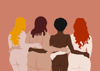 Illustration of naked women