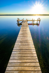 Wall Mural - old wooden jetty