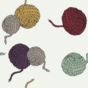 knitting, yarn, ball of threads, multi-colored balls of acrylic