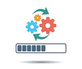 Obraz Update software, upgrade system Icon. Redesign task. - fototapety do salonu