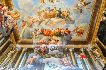 Interiors of Hampton Court palace in Richmond, London, UK