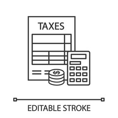 Tax accounting linear icon