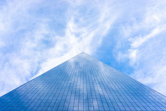 USA, NEW YORK, DECEMBER 2018: World Trade Center is the tallest building in the Western Hemisphere and the third-tallest building in the world