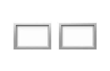 Blank photo frame on isolated white background, 3d illustration