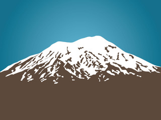 Mount Ararat vector illustration Wall mural
