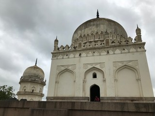 Domes of Tomb at Qutb Shahi Tombs in Hyderabad, India