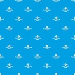 Pizza meat pattern vector seamless blue repeat for any use