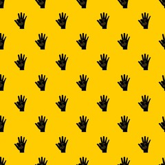 Baby and mother hand pattern seamless vector repeat geometric yellow for any design