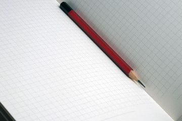 Pencil on notebook ready for different notes