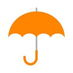 オレンジ色の傘