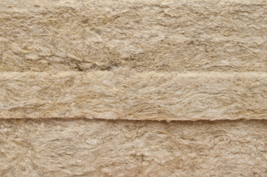 Stone mineral wool, Close up.