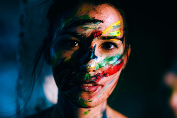 painted woman face