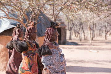 Poster Afrique Himba village in Namibia