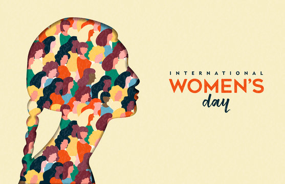 Womens Day 8th march  indian woman head card