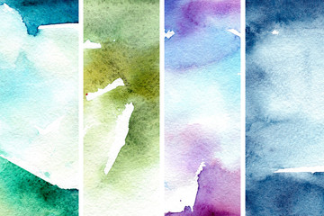 Watercolor shimmer texture in abstract style. Natural hand drawn banner. Abstract dark background. Abstract art pattern. Shimmer texture set. Watercolor effect. Ink marble texture.