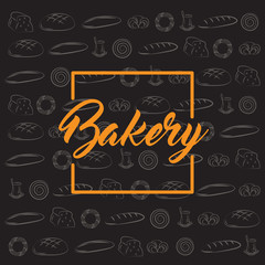 Bakery and cafeteria background design