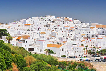 The white walled town of Vejer de La Frontera, Cadiz, Spain.