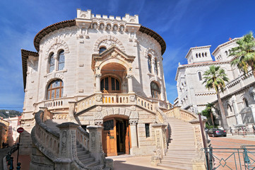 The Palais de Justice and the Christian cathedral, Monaco Ville, Monaco, Europe.