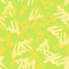 Summer UFO camouflage of various shades of green and yellow colors