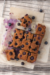 Blueberry square bars, low carb baking