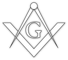 Masonic symbol of square and compass