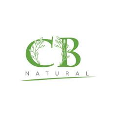 Nature Green Leaf CB Letter Logo