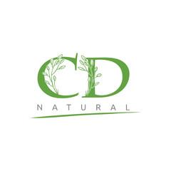Nature Green Leaf CD Letter Logo