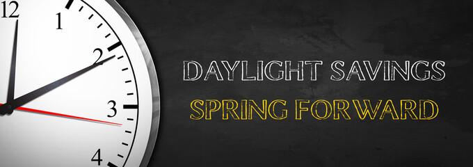 Blackboard Clock - Daylight Savings Spring Forward