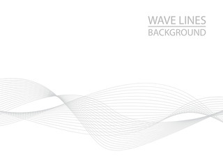 In de dag Abstract wave Abstract gray wave lines on white background. Can be used presentation, poster. Vector illustration.