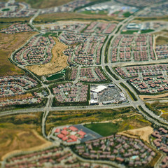 Aerial View of Suburban Tract Housing