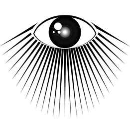All seeing eye with rays of light