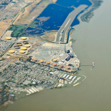 Aerial View on an Industrial Storage Facility