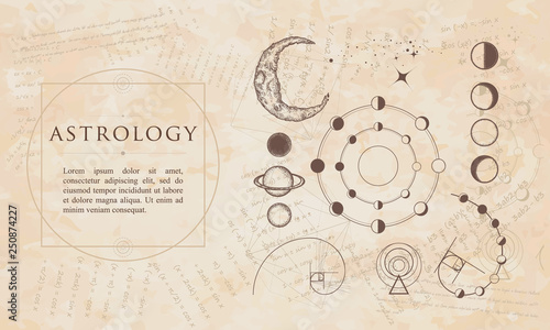 Astrology  Lunar phases, esoteric planets, moon, golden