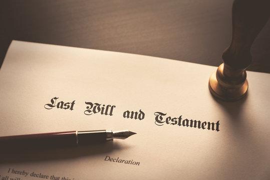 Last Will and Testament concept