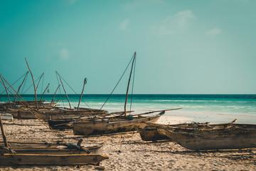 Isolated Beach in Zanzibar, Tanzania